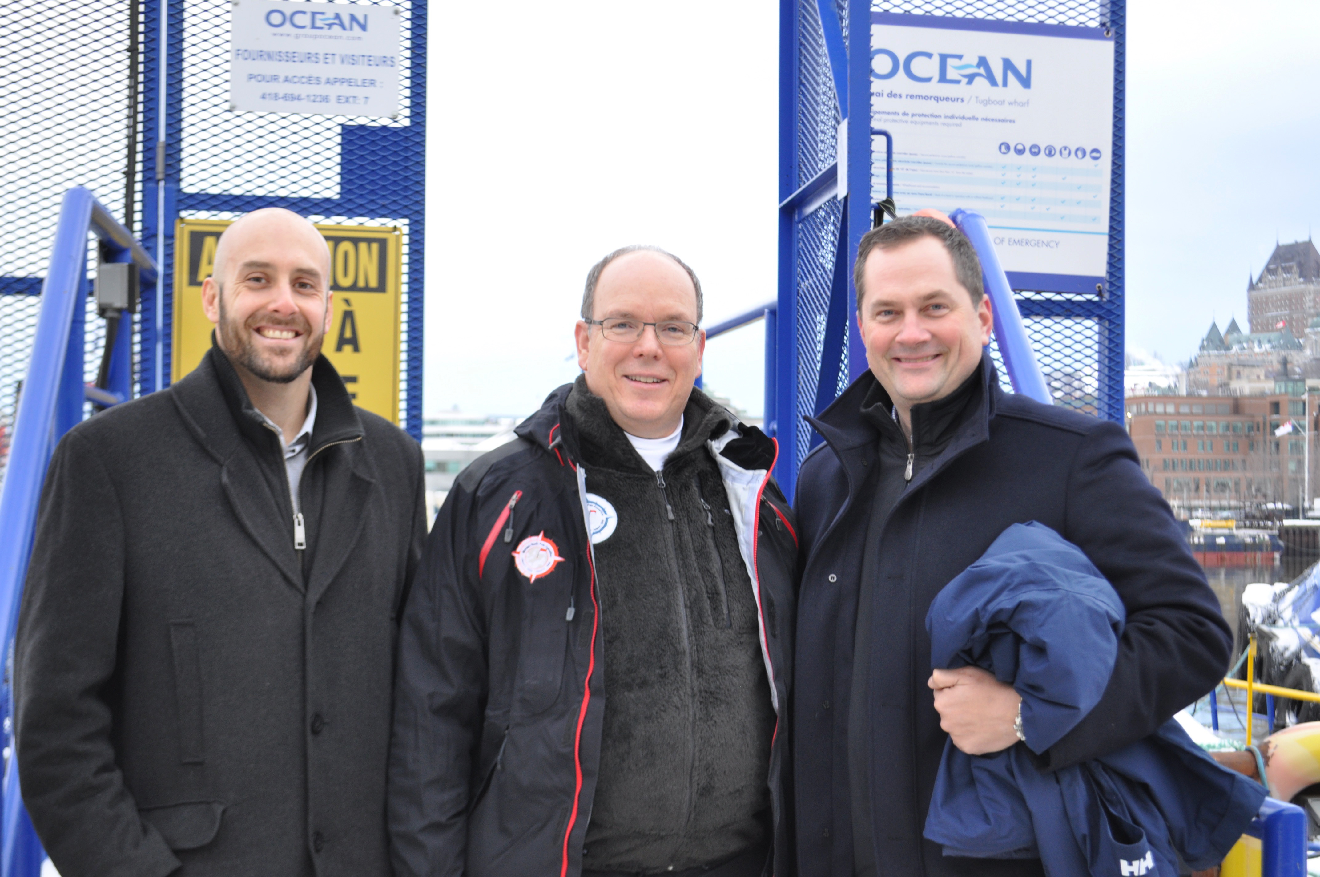 Ocean receives His Serene Highness Prince Albert II of Monaco on the OCEAN TAIGA