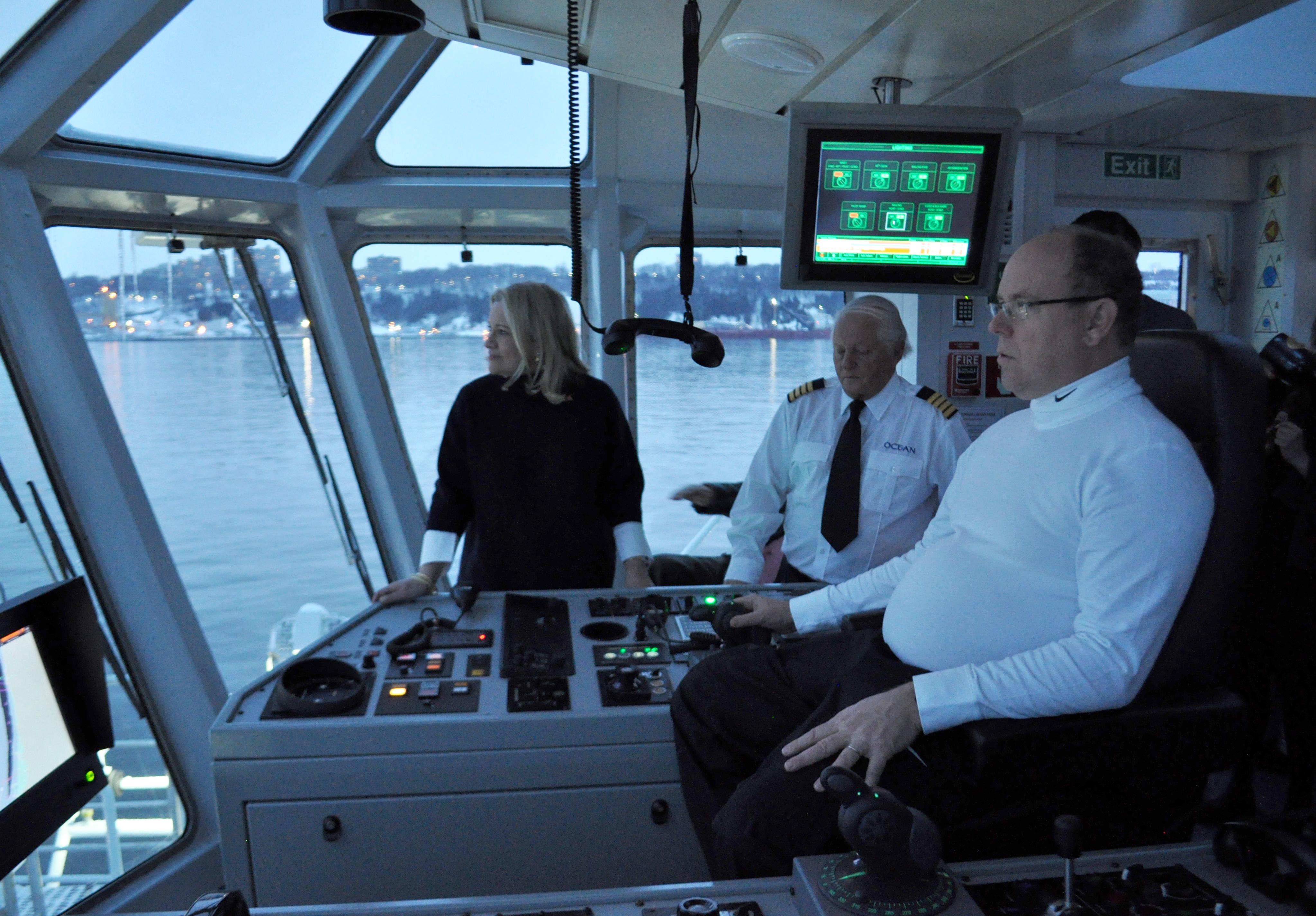 Océan reçoit Son Altesse Sérénissime le Prince Albert II de Monaco à bord de l'OCEAN TAÏGA