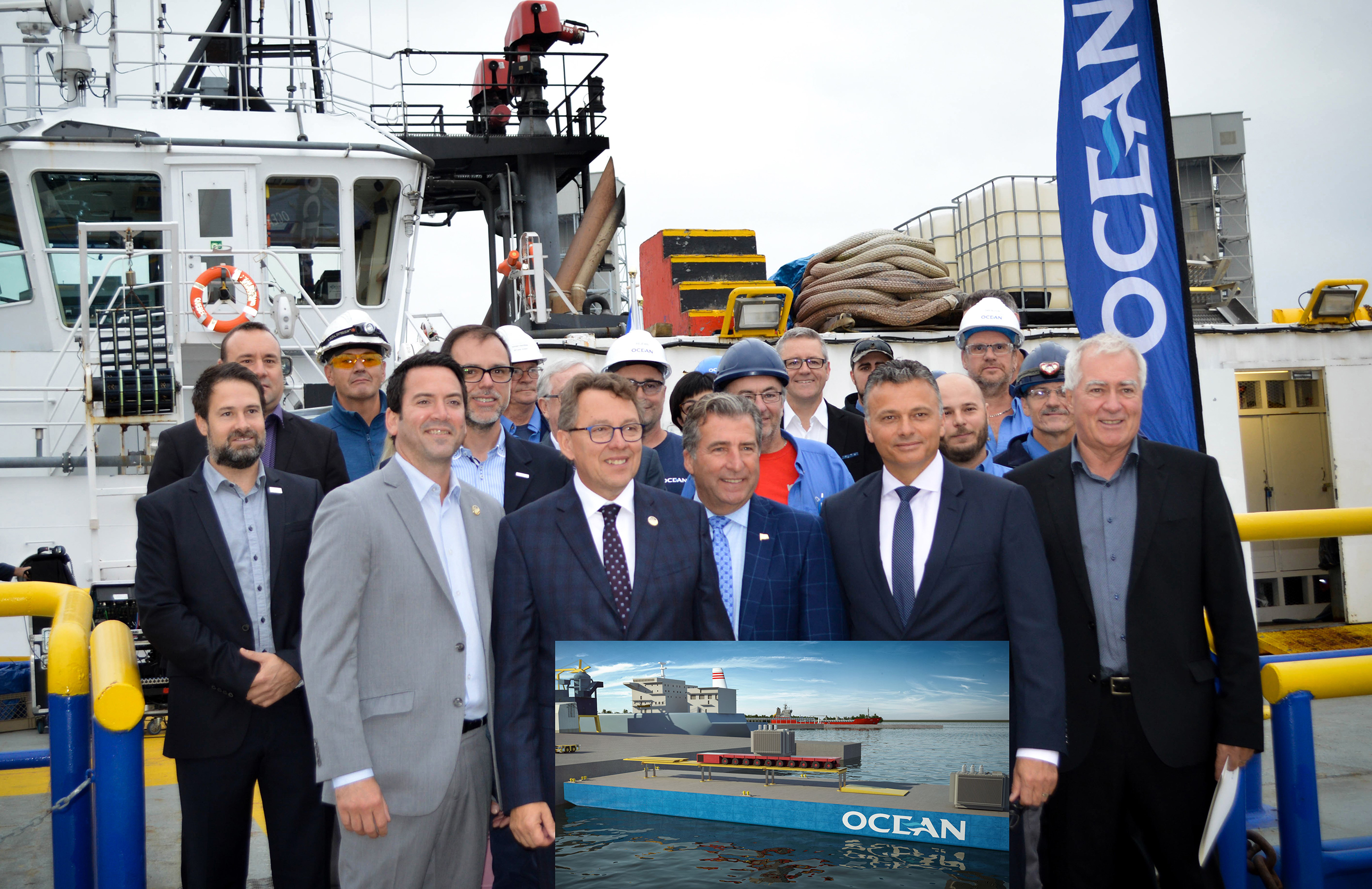 Ocean lifting barge - Ocean innovates with the announcement of a new equipment