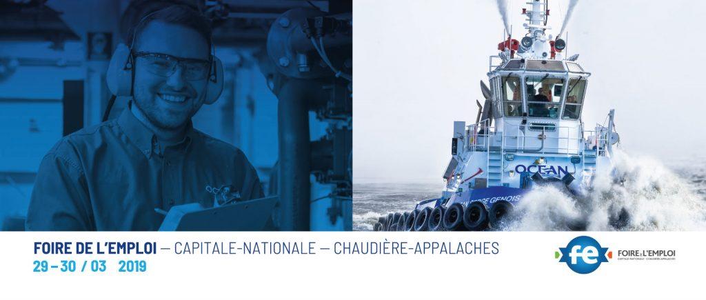 Ocean Group at the job fair: Foire de l'emploi – Capitale-Nationale – Chaudière-Appalaches - Québec