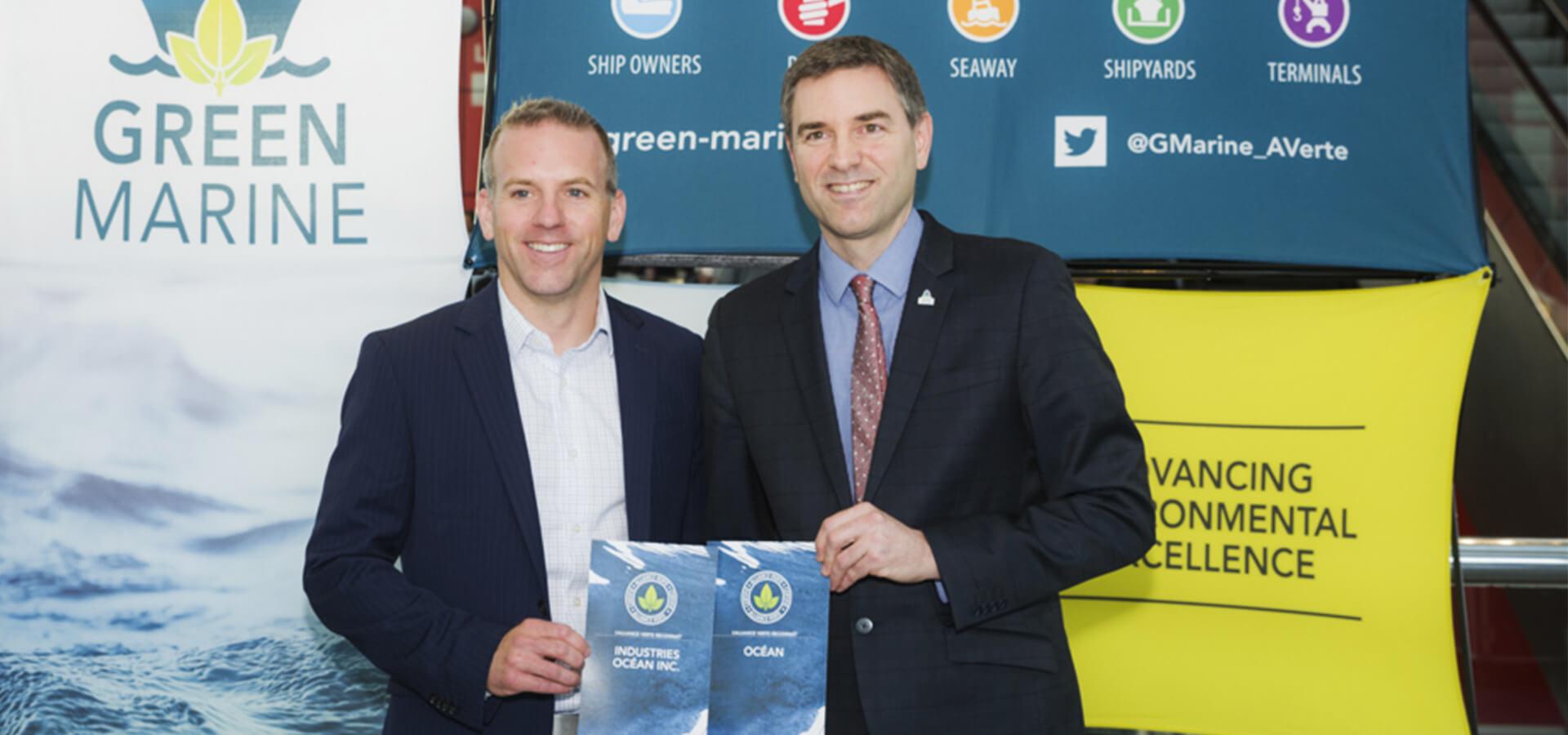 Océan Remorquage et Navigation et Industries Océan Inc. reçoivent la certification Alliance verte.
