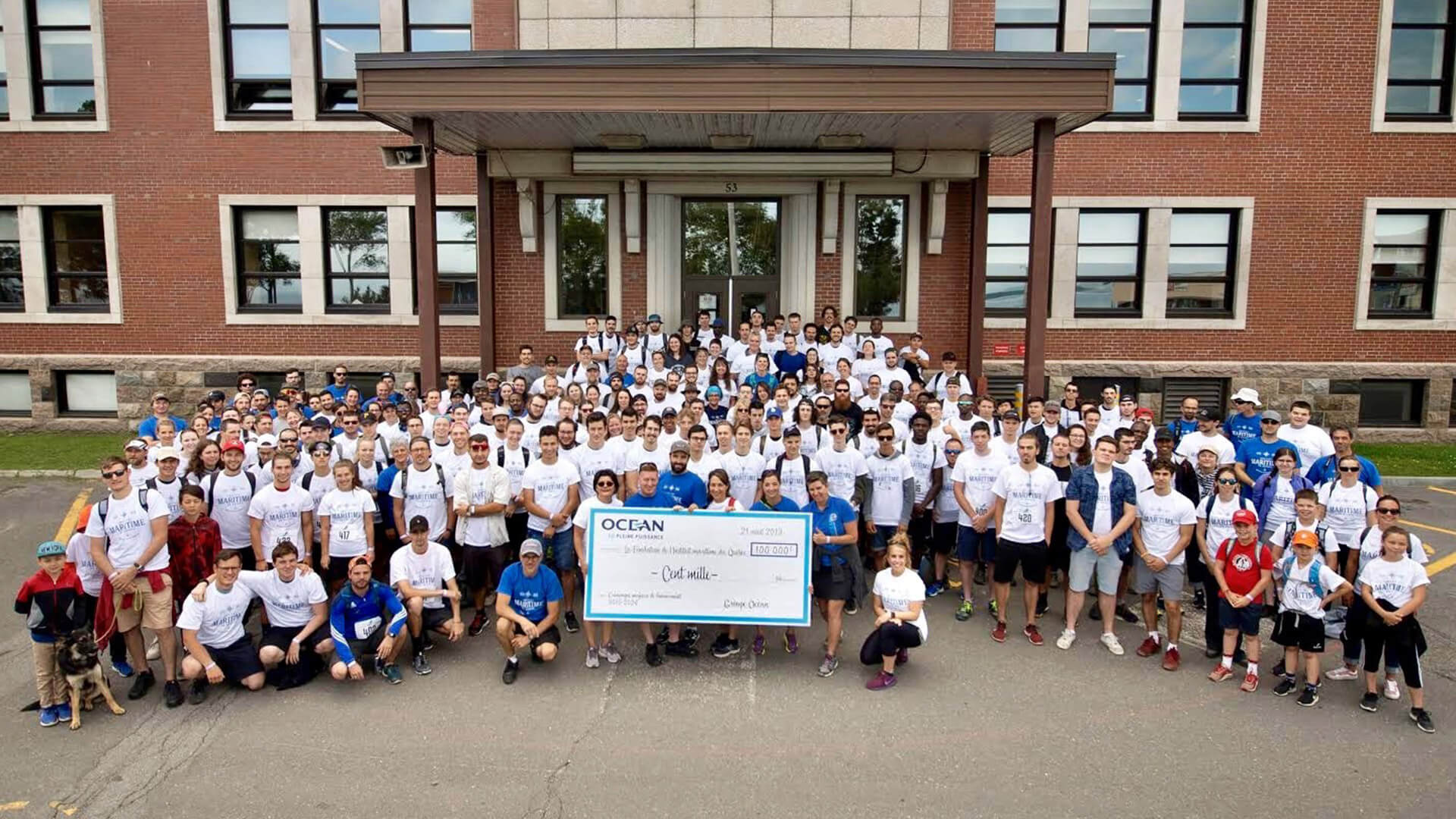 Ocean Group donates $100,000 to the Institut maritime du Québec Foundation.